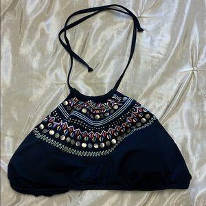 Black High Neck Bikini Top